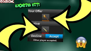 TRADING FLAME MACE FOR WIND ELEMENTAL?! *HUGE WIN?* (ROBLOX ASSASSIN WIND ELEMENTAL TRADES)