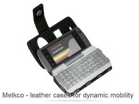 Melkco Tasche Leder Etui cuir ~Toshiba Portege G910 Book type (Black)