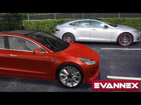 Tesla Model 3 (AR) side-by-side with Tesla Model S