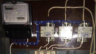 видео Трехфазные счетчики электроэнергии: установка и подключение