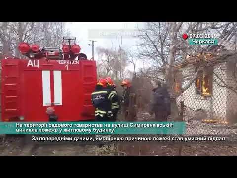 Телеканал АНТЕНА: На території садового товариства на вулиці Симиренківській виникла пожежа у житловому будинку
