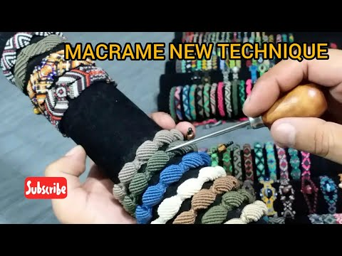 MACRAME NEW TECHNIQUE, MACRAME NUEVA TECNICA  PARA TEJER, By Peruvian Knots