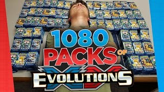 Pokemon Cards 1080 Booster Pack Opening of XY Evolutions - Largest Pokemon Card Opening So Far!