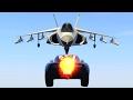 ROCKET CAR VS JET TEST! (GTA 5 Funny Moments)