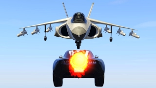 ROCKET CAR VS JET TEST! (GTA 5 Funny Moments)