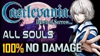 Castlevania: Dawn of Sorrow - 100% No Damage Completion Run (ALL SOULS / HARD MODE)