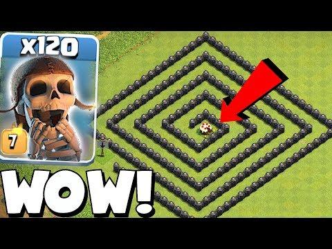 CAKE MAZE BASE!! | Clash of clans | 120x WB TROLL!!