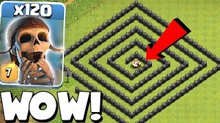CAKE MAZE BASE!! | Clash of clans | 120x WB TROLL!!