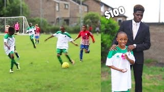 I Donated a Kid $100 Football Boots If His Team Wins a Match