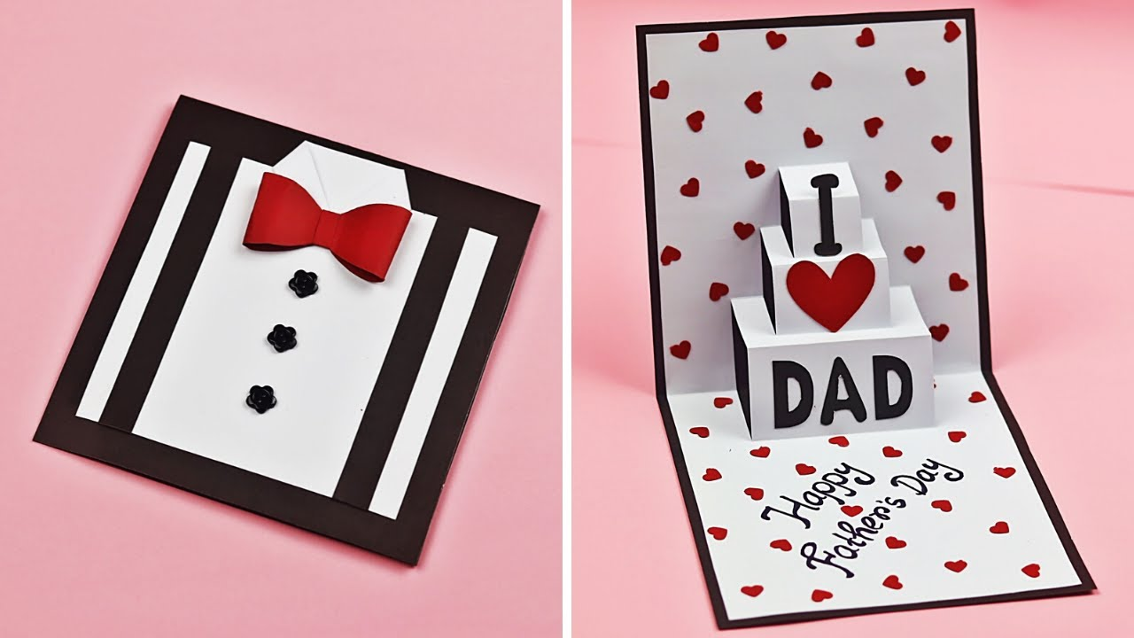 Diy Father S Day Greeting Card Idea Easy Pop Up Card For Father S Day Father S Day Card Youtube