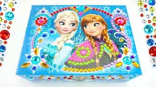 Украшаем шкатулку Эльзы и Анны из мультика Холодное Сердце