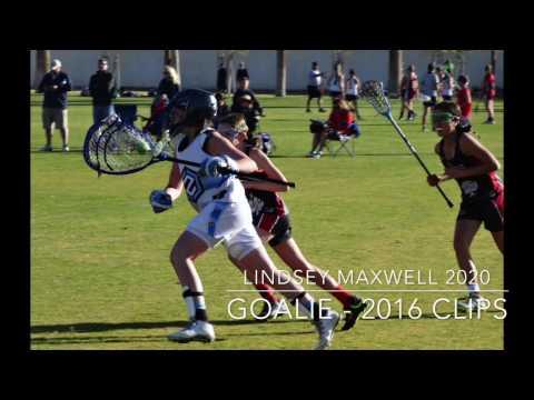 Lindsey Maxwell 2020 Goalie  2016 Season s