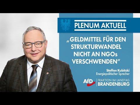 Steffen Kubitzki: Geldmittel für den Strukturwandel nicht an NGOs verschwenden!