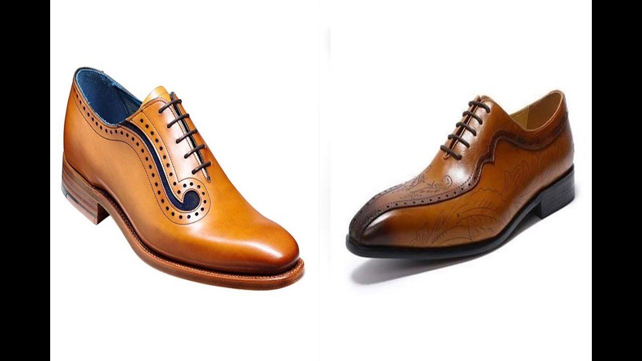 cced9cad153a9 أفضل 200 تصميم أحذيه جلد رجالي باللون البني لهذا العام في الموضه العالميه  !! المجموعه الأولي