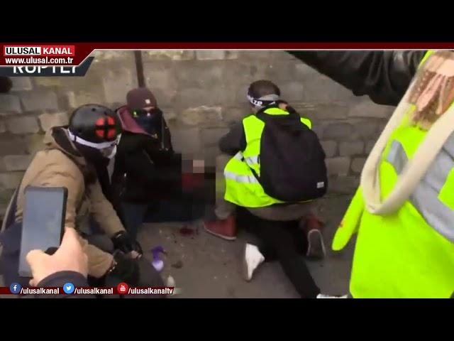 Sarı Yelekliler Fransa'da yine sokaklardaydı