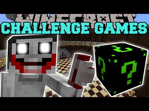 Minecraft: JEFF THE KILLER CHALLENGE GAMES - Lucky Block Mod - Modded Mini-Game
