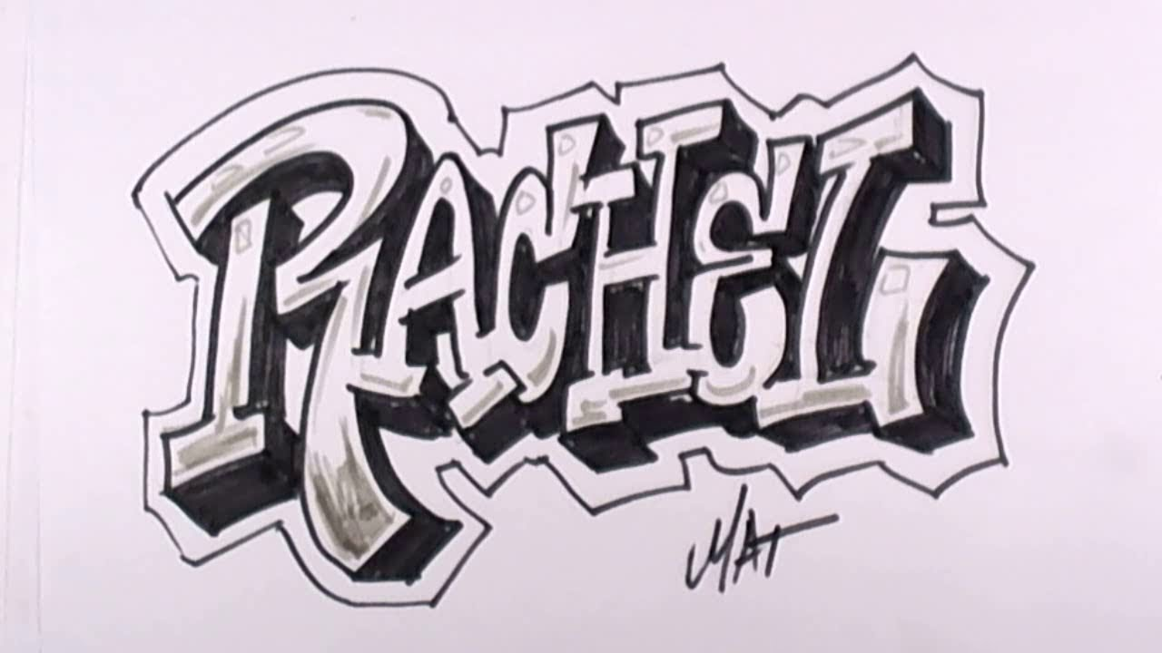 Graffiti Writing Rachel Name Design  Names Promotion Mat Youtube