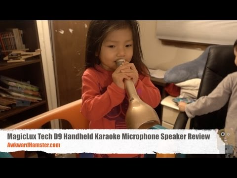 MagicLux Tech D9 Handheld Karaoke Microphone Speaker Review