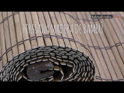 Instalación persianas de bambú enrollables from YouTube · Duration:  44 seconds
