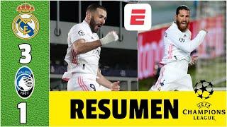 Real Madrid 3-1 Atalanta ¡A CUARTOS! Goles de Benzema, Ramos y Asensio. Golazo de Muriel | Champions