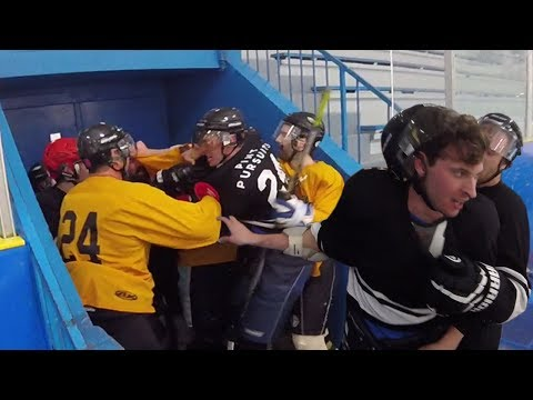 FIGHT IN THE TUNNEL! | GoPro Hockey | Beer League