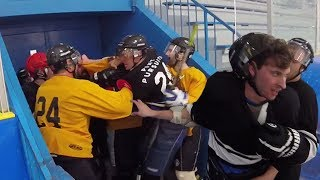 FIGHT IN THE TUNNEL!   GoPro Hockey   Beer League