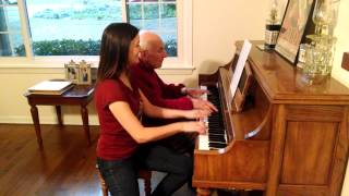 "Tommie Wright and daughter play ""FSU Fight Song"" Piano Duet"