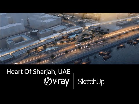 V-ray 2 for Sketchup Walkthrough animation for the Waterfront Development in Heart of Sharjah, UAE