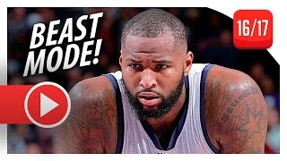 DeMarcus Cousins UNREAL Highlights vs Blazers (2016.12.20) - 55 Pts, 13 Reb, BEAST!