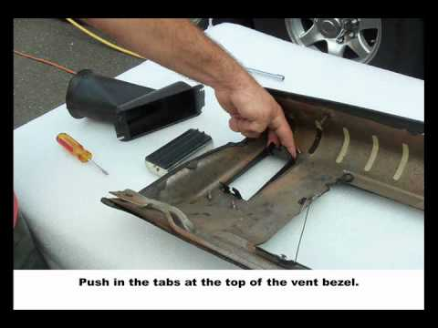 1969-72 GTO Or Lemans Dash Vent Install
