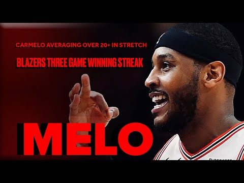 Carmelo Anthony Getting To The Bucket In Trail Blazers Run - Highlights From Three-Game Stretch - 동영상