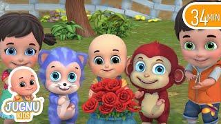 Ringa Ringa Roses | Ring Around the Rosie -3D Kid's Songs & Nursery Rhymes for children - Jugnu Kids