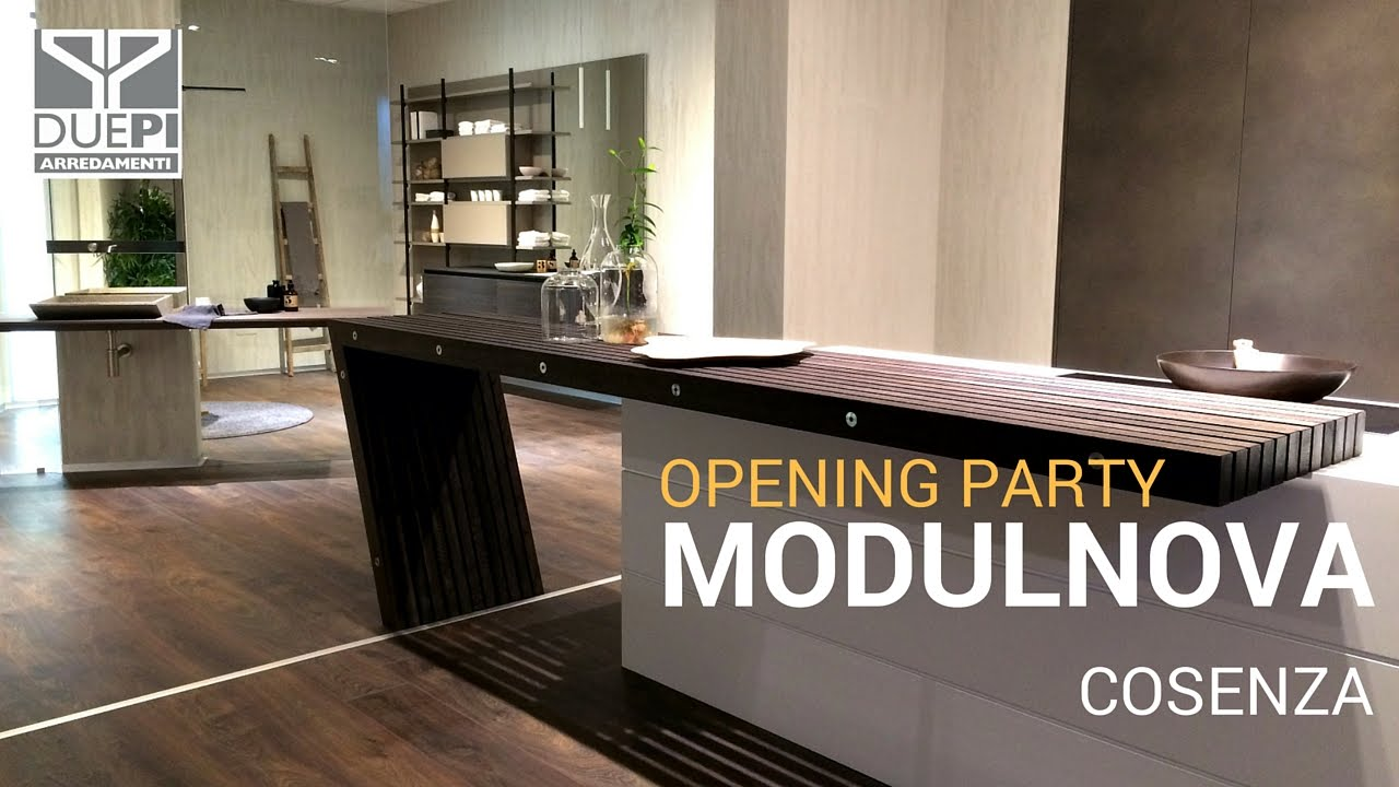 modulnova opening party showroom cosenza arredamenti