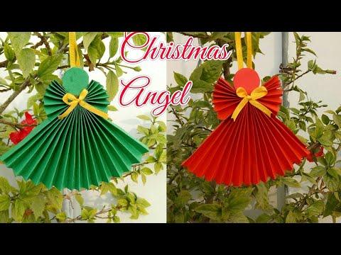 DIY Christmas Angel| Christmas & New year craft idea for kids| Christmas decor idea|Paper crafts