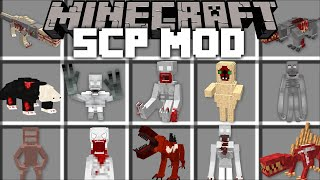 Minecraft SCP MONSTER EXPERIMENT MOD / FIGHT OFF SCP CREATURES BEFORE THEY KILL YOU!! Minecraft Mods