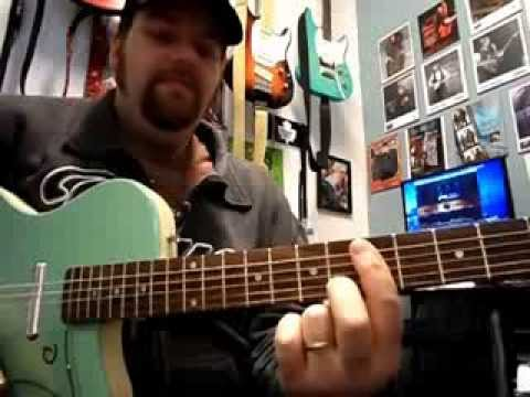 Open G tuning guitar lesson. Keith Richards style chords. Brown ...