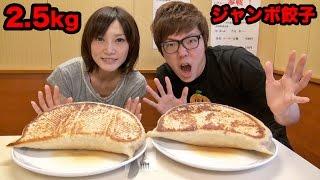【大食い】2.5kgジャンボ餃子大食い対決!ヒカキン vs 木下ゆうか thumbnail