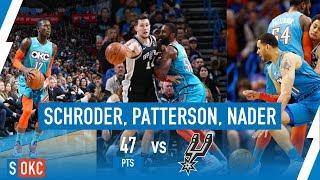 Dennis Schroder, Abdel Nader, and Patrick Patterson Scores 47 Points vs Spurs | January 12th, 2019