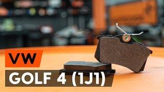 Skifte Bremsebelegg bak og foran VW GOLF IV (1J1) - videoopplæring