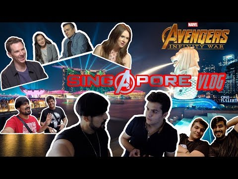 SINGAPORE INFINITY WAR RED CARPET EVENT W/ ASHISH CHANCHLANI and akash dodeja aka JADOO