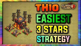 Th10 EASIEST 3 STARS WAR ATTACK STRATEGY | Low Level Heroes Strategy | Clash Of Clans