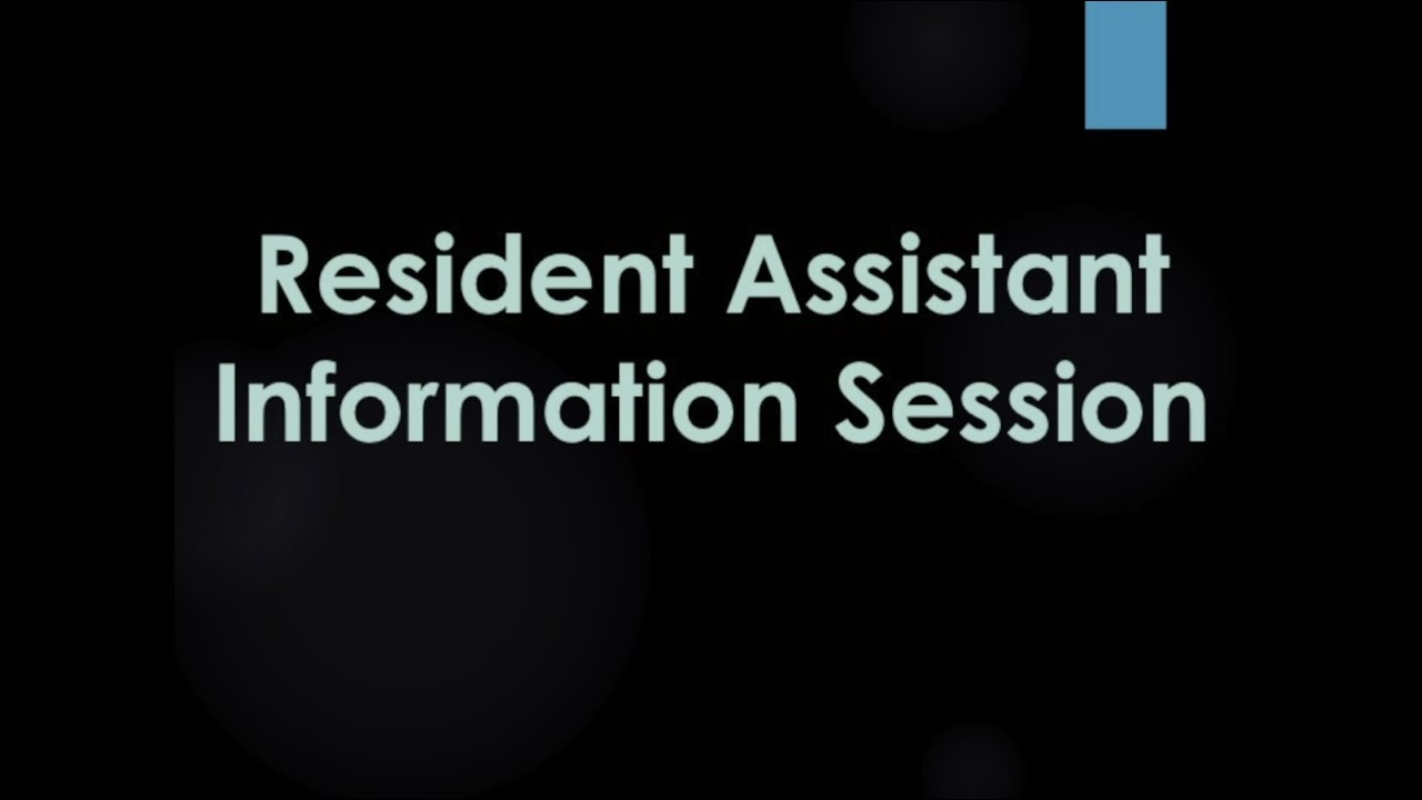 ud residence life housing resident assistant position