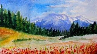 Как научиться рисовать: УРОК 2. Рисуем горный пейзаж (акварель)(Подписывайтесь на мой канал, если вы интересуетесь искусством! Канал Fun Fantasy https://www.youtube.com/channel/UCoRhOIBr249nDcWrHbclmDQ..., 2015-05-10T18:20:40.000Z)