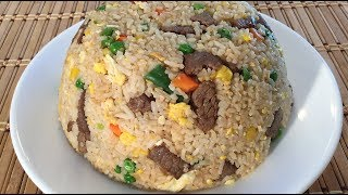 How To Make Beef Fried Rice-Chinese Restaurant Food Recipes