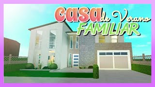 🏡 CASA de Verano FAMILIAR / SPEED BUILDING 😏 Bloxburg (ROBLOX) 🌺 Summer House ☀