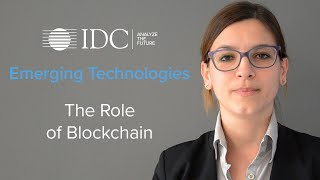 Emerging Technologies - The role of Blockchain