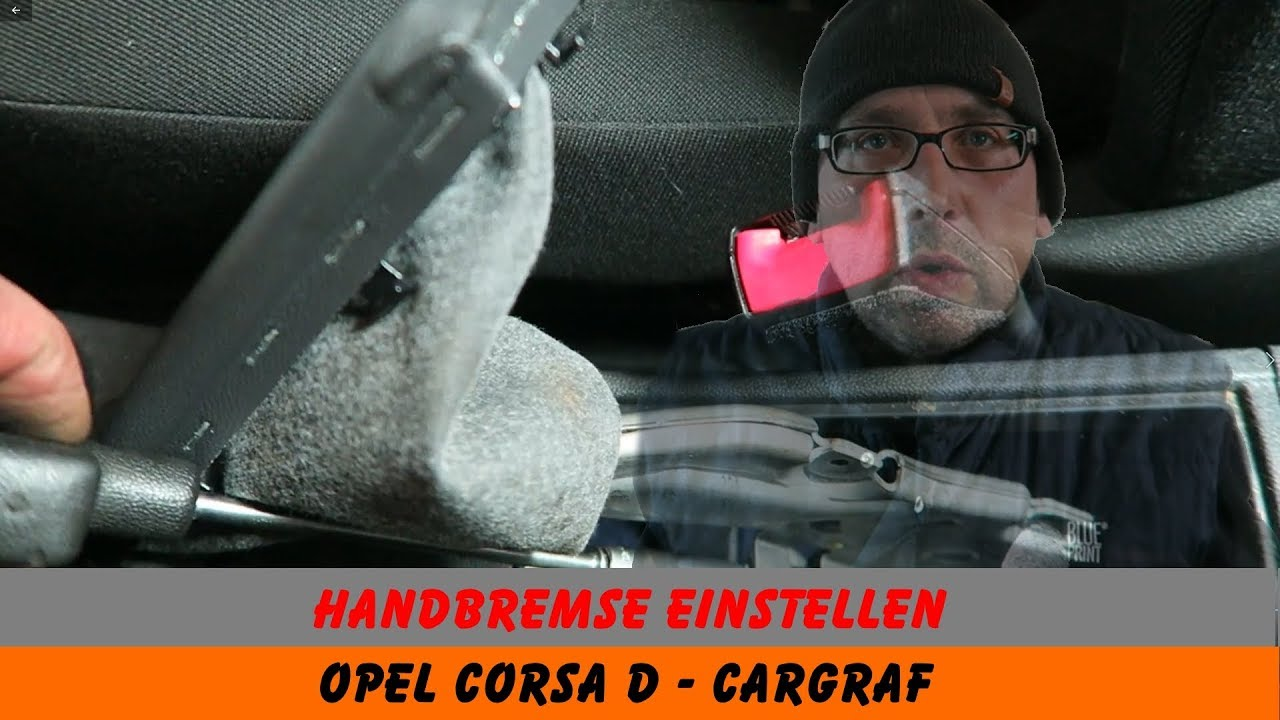 opel corsa d handbremse einstellen youtube. Black Bedroom Furniture Sets. Home Design Ideas