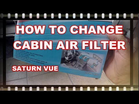 HOW TO REPLACE CABIN AIR FILTER SATURN VUE 2008 – 2010