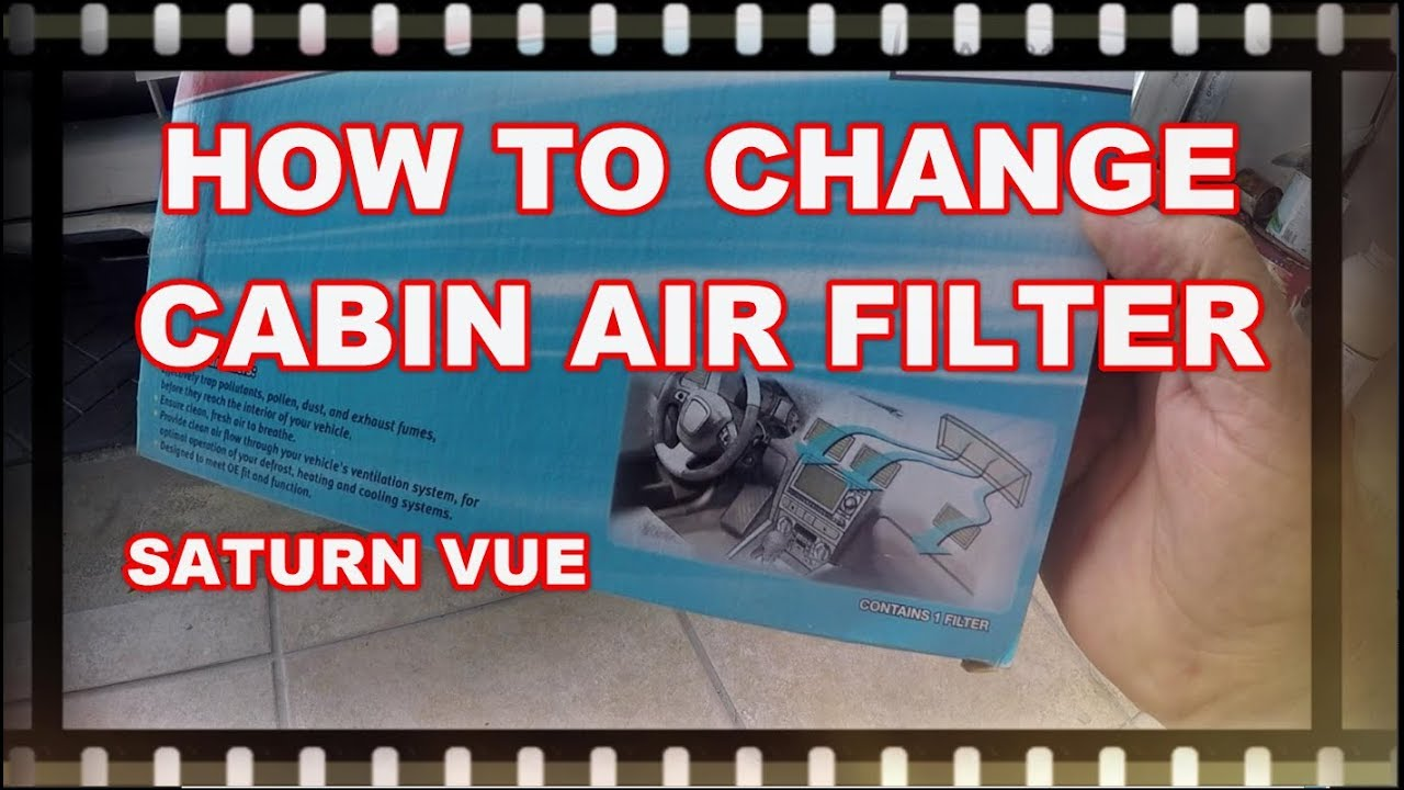 Replace Cabin Air Filter Saturn Vue 2008 2010 Youtube Transmission Install