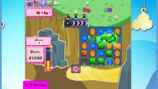 Candy Crush Saga Level 2598 16 moves NO BOOSTERS Cookie